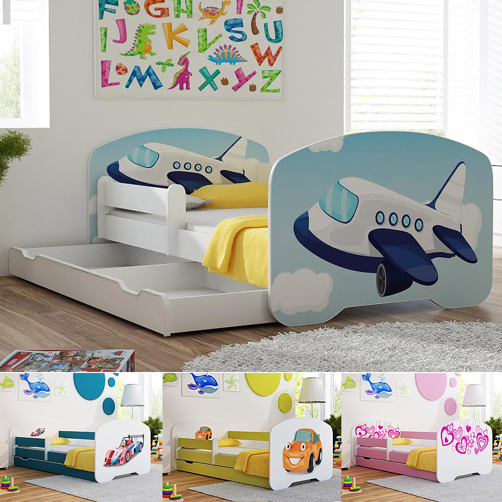 Toddler Children Kids Bed Mattress Drawer For BOYS And