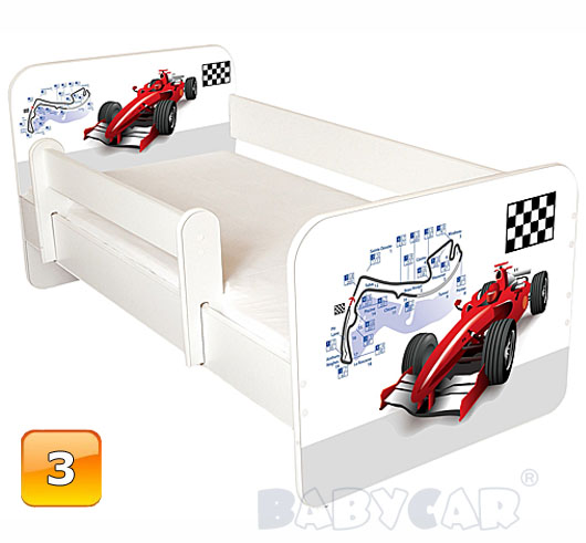 Toddler Children Kids Bed With Mattress For Boys And Girls 140×70 160×80 Ebay