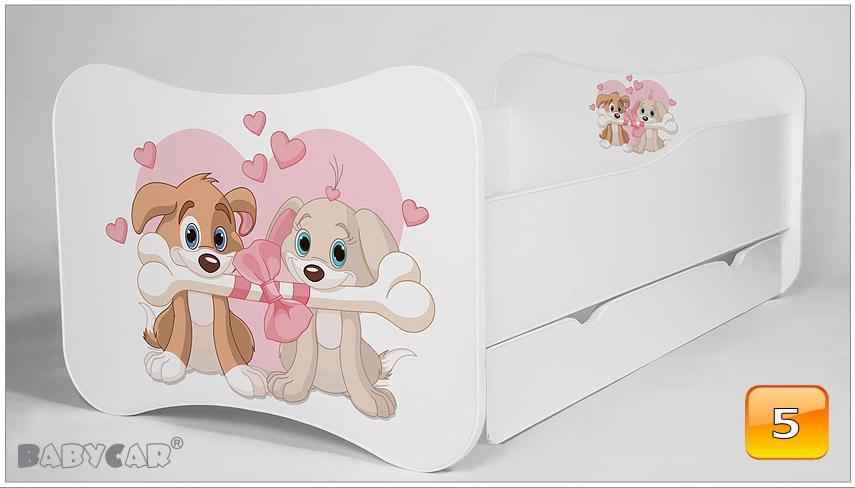 modern babybett kinderbett jugendbett 140x70 160x80 mit. Black Bedroom Furniture Sets. Home Design Ideas