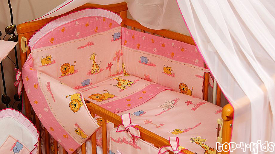 Baby Bedding Set 18 Pieces Bumper Mosquito Net Canopy
