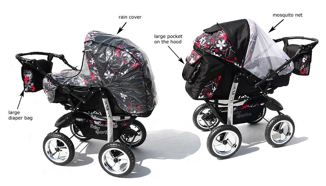 how to put baby in carrycot pram
