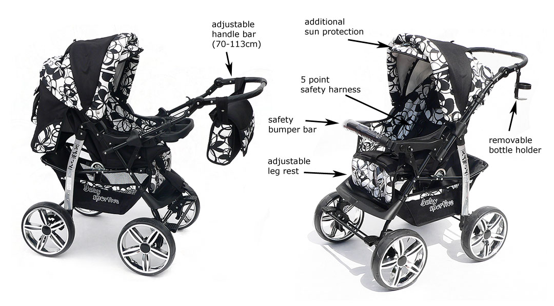 NEW Baby Pram   Free Car seat - Carrycot - Pushchair Stroller ...