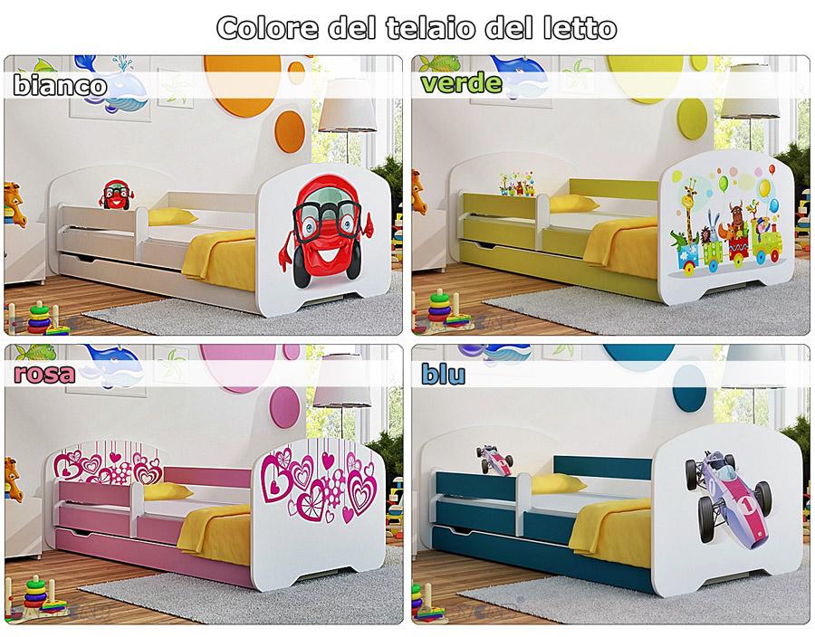 Letti Per Bambini Con Sponde.Dettagli Su Letto Singolo Bambino Cameretta Lettino Bambini Con Materasso Cassetto 160x80